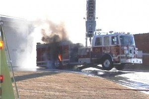 AERIAL TOUCHES POWER LINES IN MO – CATCHES FIRE