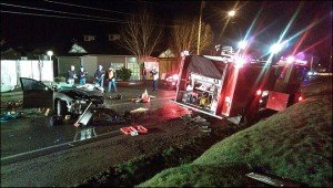 APPARATUS CRASH LEAVES ONE SERIOUS IN WA