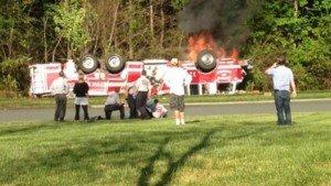 2 CHARLOTTE FFs SUSPENDED AFTER LADDER CRASH