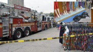 Manhattan Storefront Shatters When FDNY Truck Tire Blows