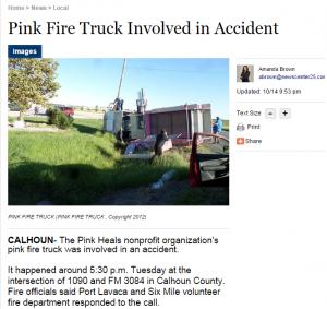PINK HEELS TRUCK FLIPS IN TX