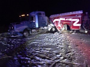 Indiana Apparatus Struck During Snow Storm on the Expressway