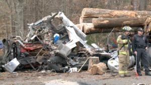 FIREFIGHTER KILLED IN HORRIFIC RESPONDING CRASH-APPARATUS VS LOGGING TRUCK