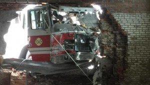 ENGINE CRASHES INTO BUILDING IN NEBRASKA