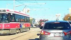WTF VIDEO – PERSON WALKS INTO TORONTO FIRE TRUCK