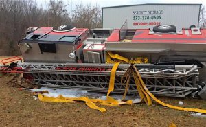 MISSOURI FIRE APPARATUS CRASH LEAVES TWO FIREFIGHTERS INJURED