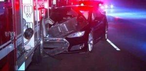 Police: Tesla driver arrested after crashing into firetruck
