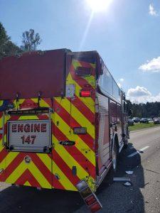 WV ENGINE SIDE-SWIPED/REAR ENDED ON I-68