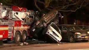 FIREFIGHTER SUFFERS SEIZURE – TOWER LADDER STRIKES CARS IN BROOKLYN