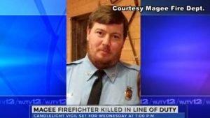 LODD: MS FIREFIGHTER KILLED – RESPONDING CRASH