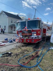 APPARATUS CRASH WITH INJURIES IN DUNCANNON, PA