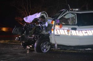 ORANGE CO TX FIRE SUV INVOLVED IN HEAD ON CRASH
